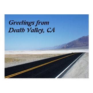 Cartão Postal Cumprimentos do Vale da Morte, CA
