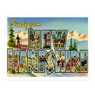 Cartão Postal Cumprimentos do vintage de New Hampshire