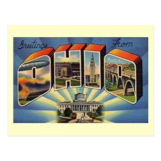Cartão Postal Cumprimentos do vintage de Ohio