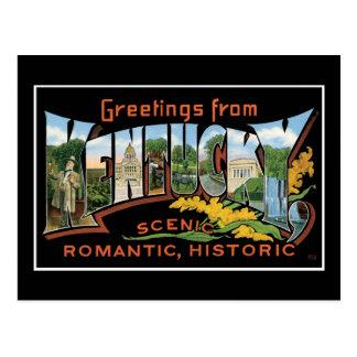 Cartão Postal Cumprimentos do vintage romântico histórico de