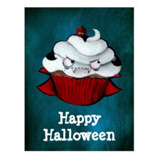 Cartão Postal Cupcake da contagem do vampiro