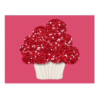 Cartão Postal Cupcake Sparkly
