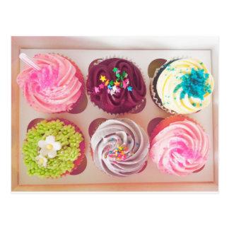 Cartão Postal Cupcakes do guloso do vintage