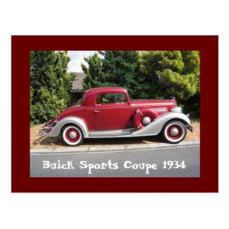 Cartão Postal Cupé 1934 dos esportes de Buick