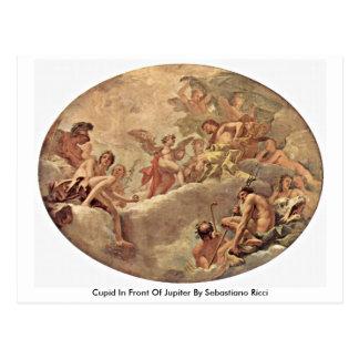Cartão Postal Cupido na frente de Jupiter por Sebastiano Ricci