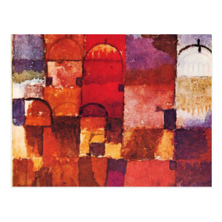 Cartão Postal Cúpulas vermelhas e brancas de Klee -