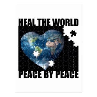 Cartão Postal Cure a paz de mundo pela paz