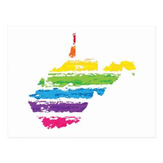 Cartão Postal cursos da cor de West Virginia