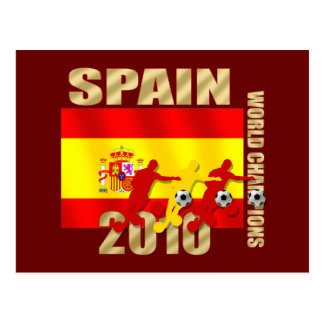 Cartão Postal Curvatura da espanha 2010 dos jogadores de futebol