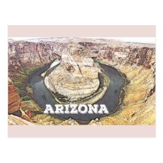 Cartão Postal Curvatura em ferradura - Grand Canyon - arizona