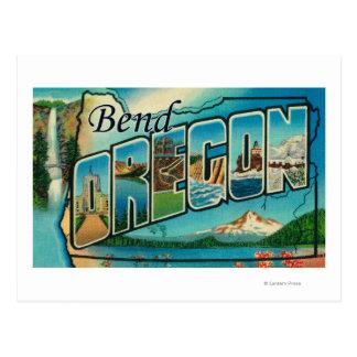 Cartão Postal Curvatura, letra ScenesBend de OregonLarge, OU