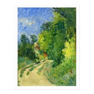 Cartão Postal Curvatura na estrada por Paul Cezanne