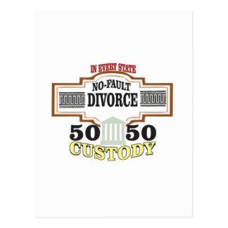 Cartão Postal custódia 50 50 no casamento
