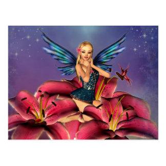 Cartão Postal Cute Fairy loura