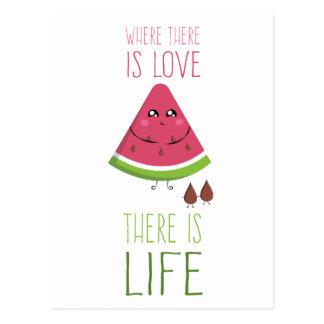 Cartão Postal Cute Watermelon