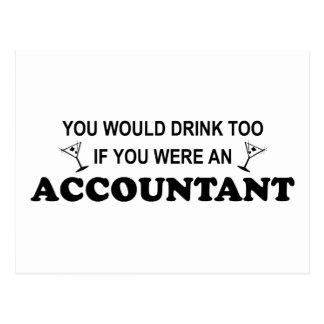 Cartão Postal Da bebida contador demasiado -