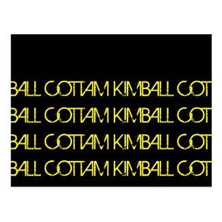 """Cartão Postal da """"berço do kimball do cottam bola """""""