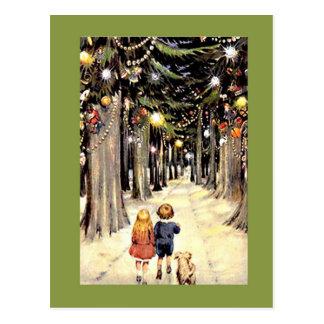Cartão Postal Da caminhada uma viagem nostálgica do Natal para