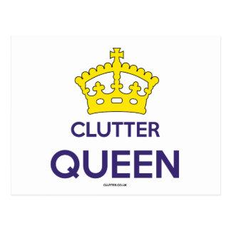 """Cartão Postal Da """"cartão da rainha desordem"""""""