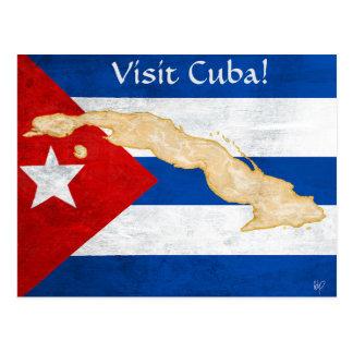 """Cartão Postal Da """"cartão de Cuba visita"""""""