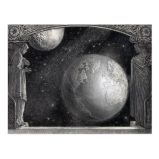 """Cartão Postal Da """"cartão terra, da lua, e da Via Láctea"""""""