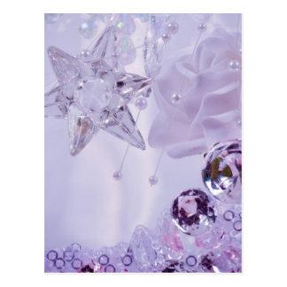 """Cartão Postal Da """"coleção da estrela e dos cristais lavanda"""""""