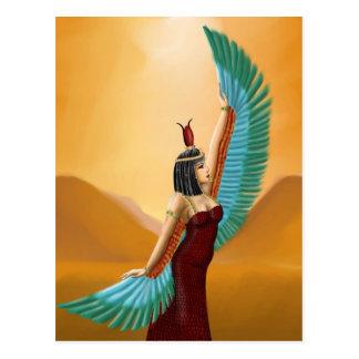 Cartão Postal Da deusa pagã egípcia da mãe do Isis arte digital