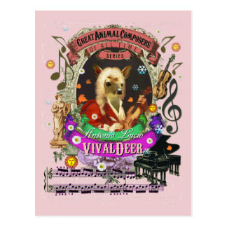 Cartão Postal Da jovem corça engraçada dos cervos de Vivaldeer