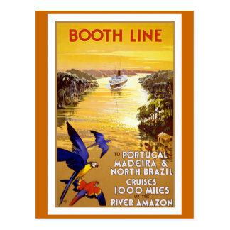 """Cartão Postal Da """"linha"""" poster cabine das viagens vintage"""