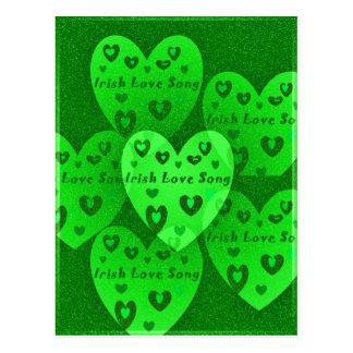 Cartão Postal Da pancadinha afortunada do St. dos corações