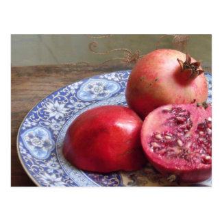 Cartão Postal Da romã da fruta vida ainda