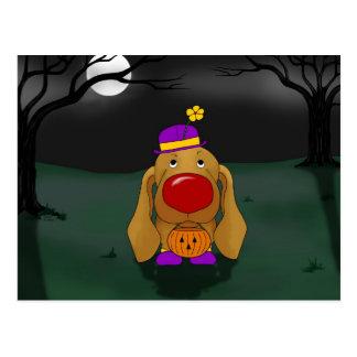 Cartão Postal Dachshund o Dia das Bruxas