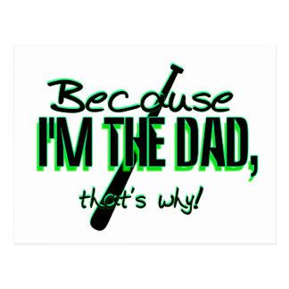 Cartão Postal Dadism - porque Im o pai, é por isso!