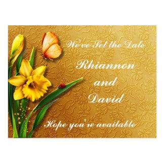 Cartão Postal Daffodils dourados