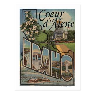 Cartão Postal d'Alene de Coeur, Idaho - grandes cenas da letra