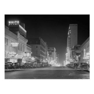 Cartão Postal Dallas em Noite, 1942