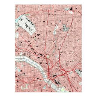 Cartão Postal Dallas Texas Mapa (1995)