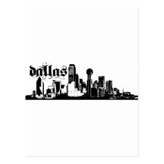Cartão Postal Dallas Texas psto sobre para sua cidade