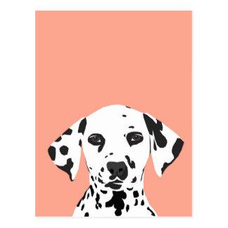 Cartão Postal Dalmatian - ilustração bonito do cão para o amante