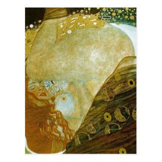 Cartão Postal Danae da descrição sumária, óleo nas canvas, 77 x