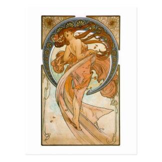 Cartão Postal Dança (1898), belas artes Nouveau de Alphonse