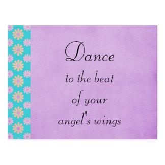 Cartão Postal Dança à batida de suas asas dos anjos