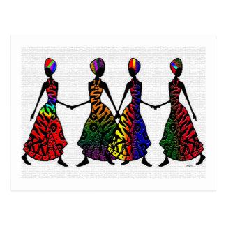 Cartão Postal Dança africana da irmandade
