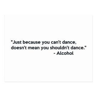 Cartão Postal Dança da confiança do álcool