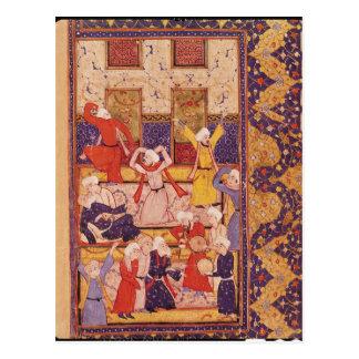 Cartão Postal Dança da iniciação, de um livro dos poemas