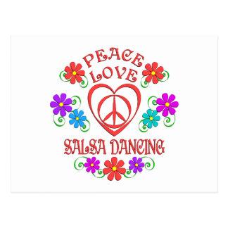 Cartão Postal Dança da salsa do amor da paz