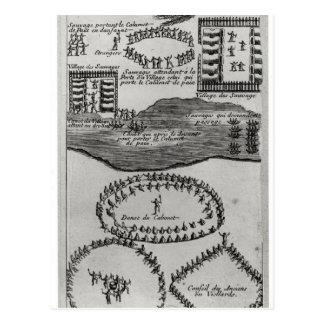 Cartão Postal Dança da tubulação de paz do Iroquois