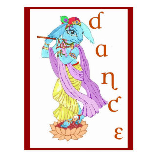 Cartão Postal Dança de Krishna da lebre