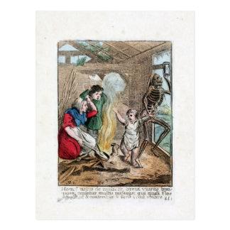 Cartão Postal Dança de morte - criança - impressão de cor 1816