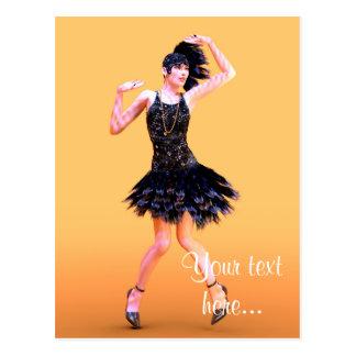Cartão Postal Dança do Flapper